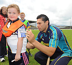 17-08-2013: To celebrate CentraÕs sponsorship of the GAA Hurling All-Ireland Senior Championship, The Centra  Brighten up Your  Day Community event took place at Fitzgerald Stadium, Killarney on Saturday.  Pictured is  Centra GAA Hurling Ambassador and Cork hurling legend  Sean Og O hAilpin with Rebecca Cashman. Picture: Eamonn Keogh (MacMonagle, Killarney)