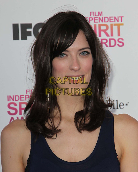 Rebecca Thomas.2013 Film Independent Spirit Awards - Arrivals  Held At Santa Monica Beach, Santa Monica, California, USA, .23rd February 2013..iny indys portrait headshot navy blue vest sleeveless .CAP/ADM/FS.©Faye Sadou/AdMedia/Capital Pictures.