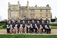 Bath Rugby coaches and support staff pose for a team photo at a Bath Rugby photocall. Bath Rugby Media Day on December 1, 2015 at Farleigh House in Bath, England. Photo by: Rogan Thomson for Onside Images