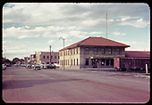 Alamosa station and street.<br /> D&amp;RGW  Alamosa, CO  9/9/1960