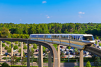 Monorail, Magic Kingdom, Walt Disney World, Orlando, Florida USA