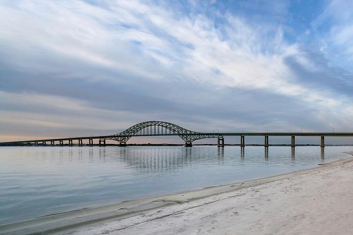 Fire Island Inlet Bridge from Captree Beach