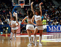 Real Madrid's cheerleaders during Euroliga match. February 28,2013.(ALTERPHOTOS/Alconada)