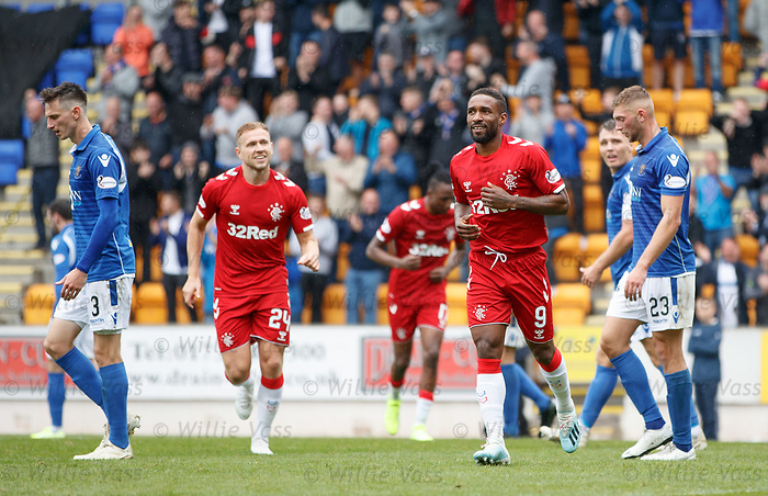 22.09.2019 St Johnstone v Rangers: Jermain Defoe celebrates his second goal