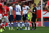 Injury to Ben Davies of Preston North End during Charlton Athletic vs Preston North End, Sky Bet EFL Championship Football at The Valley on 3rd November 2019