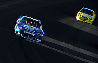Mar 2, 2008; Las Vegas, NV, USA; NASCAR Sprint Cup Series driver Kurt Busch leads Bobby Labonte during the UAW Dodge 400 at Las Vegas Motor Speedway. Mandatory Credit: Mark J. Rebilas-US PRESSWIRE