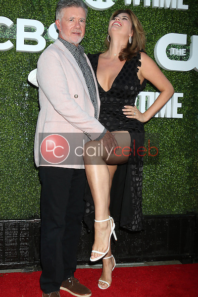Alan Thicke, Tanya Callau<br /> at the CBS, CW, Showtime Summer 2016 TCA Party, Pacific Design Center, West Hollywood, CA 08-10-16<br /> David Edwards/DailyCeleb.com 818-249-4998