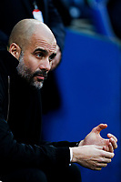 Manchester City manager Pep Guardiola prior to kick off of the Fly Emirates FA Cup Fourth Round match between Cardiff City and Manchester City at the Cardiff City Stadium, Wales, UK. Sunday 28 January 2018
