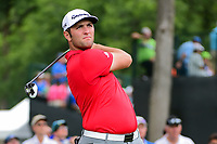Jon Rahm (ESP) watches his tee shot on 3 during round 4 of the Dean &amp; Deluca Invitational, at The Colonial, Ft. Worth, Texas, USA. 5/28/2017.<br /> Picture: Golffile | Ken Murray<br /> <br /> <br /> All photo usage must carry mandatory copyright credit (&copy; Golffile | Ken Murray)