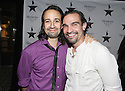 Show star and creator Lin-Manuel Miranda and actor Javier Munoz are seen at Hennessy V.S.O.P Celebrates Hamilton's 1st Week of performances on Broadway at URBO on Saturday, July 18, 2015, in New York. (Photo by Donald Traill/Invision for Hennessy/AP Images)