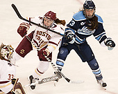Grace Bizal (BC - 2), Brooke Stacey (Maine - 3) - The Boston College Eagles defeated the visiting University of Maine Black Bears 2-1 on Saturday, October 8, 2016, at Kelley Rink in Conte Forum in Chestnut Hill, Massachusetts.  The University of North Dakota Fighting Hawks celebrate their 2016 D1 national championship win on Saturday, April 9, 2016, at Amalie Arena in Tampa, Florida.