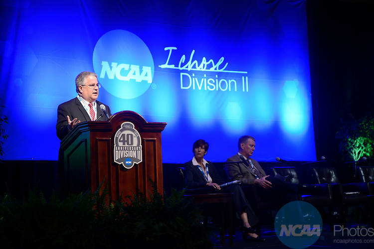 18 JAN 2013: Division II Presidents and Chancellors Summit Business Session at the 2013 NCAA Convention held at the Gaylord Texan in Grapevine, TX. Stephen Nowland/NCAA Photos.Pictured: Tom Hosty
