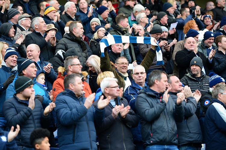 Preston North End fans show their support<br /> <br /> Photographer Richard Martin-Roberts/CameraSport<br /> <br /> The EFL Sky Bet Championship - Preston North End v Blackburn Rovers - Saturday 24th November 2018 - Deepdale Stadium - Preston<br /> <br /> World Copyright © 2018 CameraSport. All rights reserved. 43 Linden Ave. Countesthorpe. Leicester. England. LE8 5PG - Tel: +44 (0) 116 277 4147 - admin@camerasport.com - www.camerasport.com