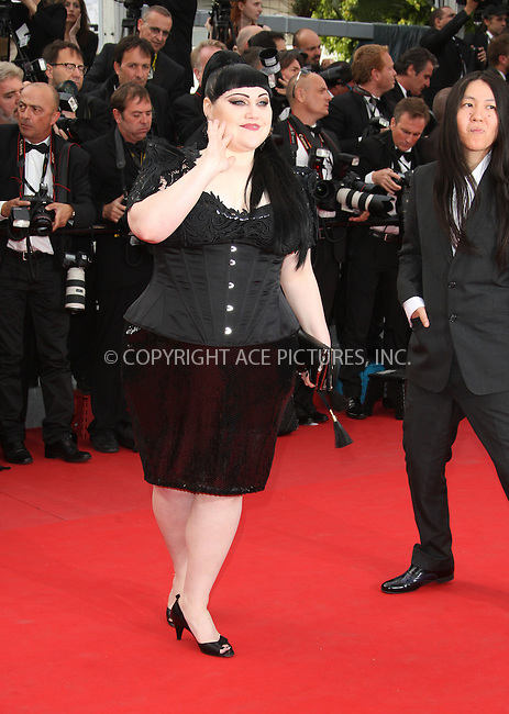 WWW.ACEPIXS.COM . . . . .  ..... . . . . US SALES ONLY . . . . .....May 17 2012, Cannes....Beth Ditto at the premiere of 'Rust and Bones' during the Cannes Film Festival on May 17 2012 in Cannes, France ....Please byline: FAMOUS-ACE PICTURES... . . . .  ....Ace Pictures, Inc:  ..Tel: (212) 243-8787..e-mail: info@acepixs.com..web: http://www.acepixs.com