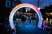 Amsterdam Light Festival . Een cultureel festival met lichtkunst.  Circle of Life