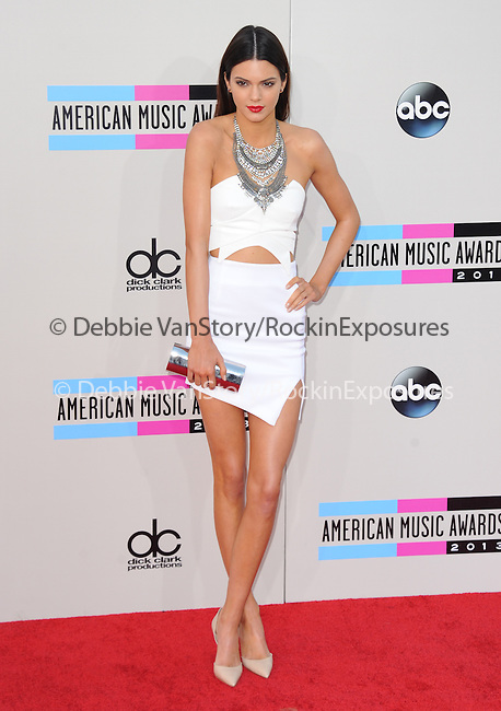 LOS ANGELES, CA - NOVEMBER 24: Kendall Jenner <br />  arrives at   The 2013 American Music Awards held at Nokia Live in Los Angeles, California on November 24,2013                                                                               © 2013 Hollywood Press Agency