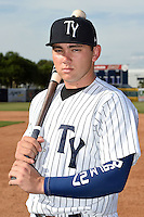 Tampa Yankees third baseman Dante Bichette Jr. (25) poses for a photo on April 14, 2014 at George M. Steinbrenner Field in Tampa, Florida.  (Mike Janes/Four Seam Images)