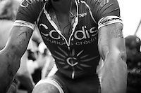 a dusty/dirty Geoffrey Soupe (FRA/Cofidis) post-race<br /> <br /> stage 4: Seraing (BEL) - Cambrai (FR) <br /> 2015 Tour de France