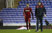 Martin Olsson of Swansea City talks with Swansea City manager Paul Clement after the final whistle of the Carabao Cup Third Round match between Reading and Swansea City at Madejski Stadium, Reading, England, UK. Tuesday 19 September 2017