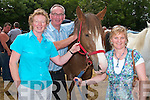 Posing for a picture at Ballyduff horse fair on Sunday were Francis and Mary Bennett Ballybunion with Mary Crickard, Ballydiuff...   Copyright Kerry's Eye 2008