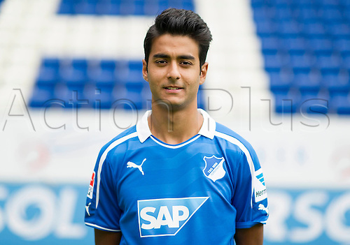 11.07.2013. Sinsheim, Germany.  Player Ahmed Sassi of German Bundesliga club TSG 1899 Hoffenheim during the official photocall for the season 2013-14  in the Rhein-Neckar-Arena in Sinsheim (Baden-Wuerttemberg).
