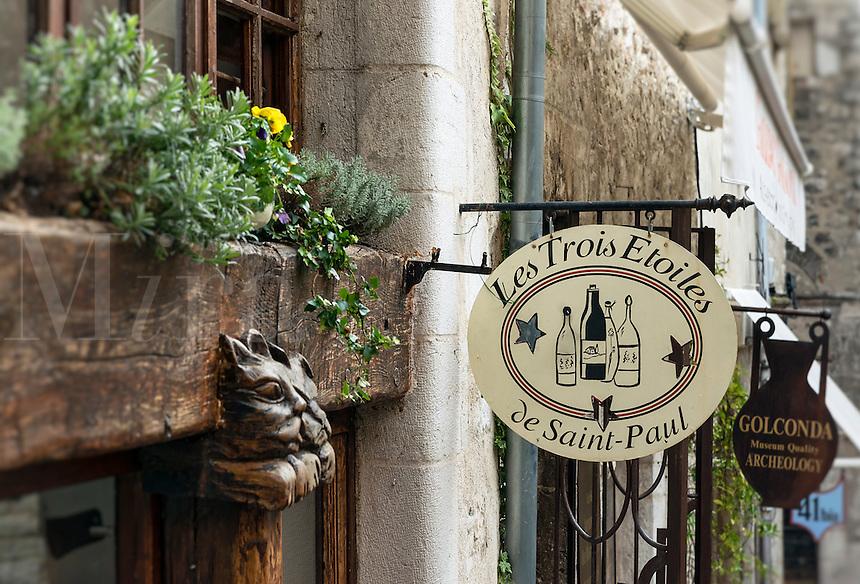 Quaint shops, Saint Paul de Vence, Provence, France