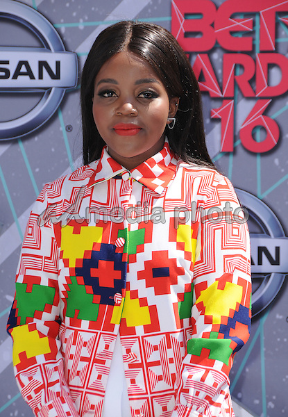 26 June 2016 - Los Angeles. Tkay Maidza. Arrivals for the 2016 BET Awards held at the Microsoft Theater. Photo Credit: Birdie Thompson/AdMedia