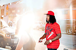 Rapper Waka Flocka walks through Lenox Square Mall after picking up a pair of Nikes in Atlanta, Georgia August 17, 2010.