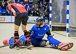 ROTTERDAM  - NK Zaalhockey  finale . hdm JB1-Schaerweijde JB1 (3-5)  . Schaerweijde  Nederlands Kampioen -16.  Xander Menken (hdm)   COPYRIGHT KOEN SUYK