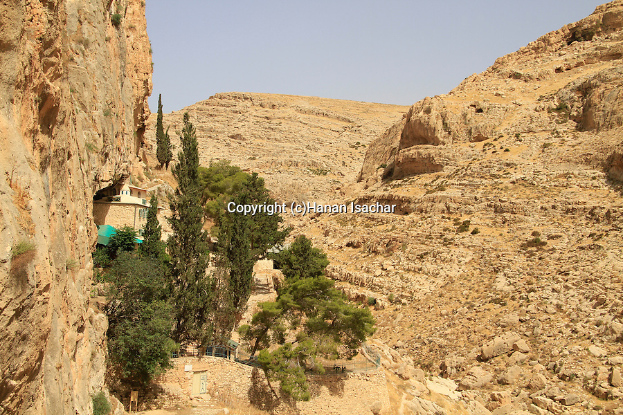 Judean desert, the Russian Orthodox Chariton Monastery in Wadi Qelt, the first in the Holy Land