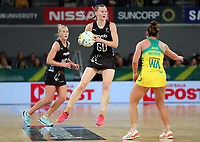 23.09.2018 Silver Ferns Katrina Grant in action during the Silver Ferns v Australia netball test match at the Melbourne Arena in Melbourne, Australia. Mandatory Photo Credit ©Michael Bradley.