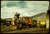 RGS #20 dressed-up as &quot;Emma Sweeny&quot; at Durango for her role in &quot;Ticket to Tomahawk&quot;, a movie produced in 1949.<br /> RGS  Durango, CO  1949
