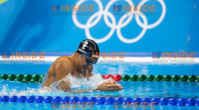 PIZZINI Luca ITA Men's 200m Breaststroke <br /> Rio de Janeiro 09-08-2016 Olympic Aquatics Stadium <br /> Swimming Nuoto <br /> Foto Andrea Staccioli/Deepbluemedia/Insidefoto