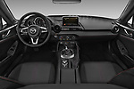 Stock photo of straight dashboard view of 2017 Mazda MX-5-RF Club 2 Door Targa Dashboard