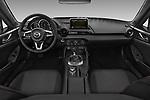 Stock photo of straight dashboard view of 2017 Mazda MX-5-RF Club 2 Door Targa Dashboard