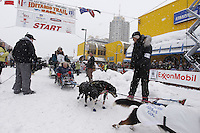 Jody Bailey Saturday, March 3, 2012  Ceremonial Start of Iditarod 2012 in Anchorage, Alaska.