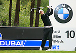 David Horsey (ENG) tees off on the 10th tee during Day 3 of the BMW PGA Championship Championship at, Wentworth Club, Surrey, England, 28th May 2011. (Photo Eoin Clarke/Golffile 2011)