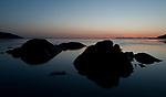 Sunset rocks at Beluga Point in Turnagain Arm near Anchorage, Alaksa.