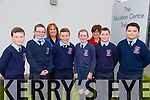 Ardfert NS at the Final of Primary school Debating competition in the Tralee Education Centre on Monday. Pictured Rory Dalton, Sarah Lawlor, Pádraig O'Sullivan, Eimear O'Sullivan, Lorcan Ryan, Christopher Egan, Back l-r Betty Stack (principal) and Joan Holland (teacher)