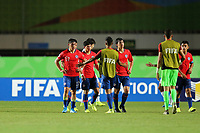 2nd November 2019; Kleber Andrade Stadium, Cariacica, Espirito Santo, Brazil; FIFA U-17 World Cup Brazil 2019, Chile versus Korea Republic; Players of Chile dejected in defeat  after the match