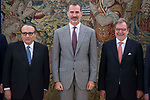 King Felipe VI of Spain receive in Royal Audience to Executive Commission of the Information Media Association at Zarzuela Palace in Madrid, July 24, 2017. Spain.<br /> (ALTERPHOTOS/BorjaB.Hojas)