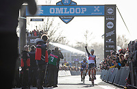 Jasper Stuyven (BEL/Trek Segafredo) wins the 75th Omloop Het Nieuwsblad 2020 (BEL)<br /> Men Elite Race<br /> Gent – Ninove: 200km<br /> <br /> ©kramon