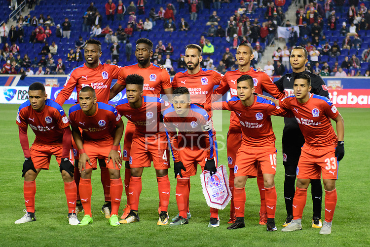 Harrison, NJ - Thursday March 01, 2018: Club Deportivo Olimpia Starting Eleven. The New York Red Bulls defeated C.D. Olimpia 2-0 (3-1 on aggregate) during a 2018 CONCACAF Champions League Round of 16 match at Red Bull Arena.