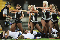 Dancers entertain the crowd between innings during 2nd Twenty20 cricket match match between New Zealand Black Caps and West Indies at Westpac Stadium, Wellington, New Zealand on Friday, 27 February 2009. Photo: Dave Lintott / lintottphoto.co.nz