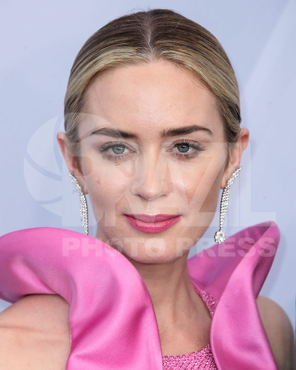 LOS ANGELES, EUA, 27.01.2019 - PREMIAÇÃO-EUA - A atriz Emily Blunt durante tapete vermelho do 25º Anual Screen Actors Guild Awards, realizada no Shrine Auditorium em Los Angeles nos Estados Unidos na noite de ontem domingo, 27. (Foto: Brazil Photo Press)