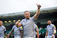 Ross Batty of Bath Rugby celebrates the win after the match. Aviva Premiership match, between Northampton Saints and Bath Rugby on September 3, 2016 at Franklin's Gardens in Northampton, England. Photo by: Patrick Khachfe / Onside Images