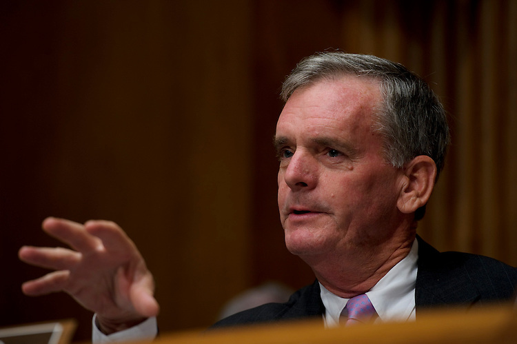 WASHINGTON, DC - Aug. 03: Ranking member Judd Gregg, R-N.H., during the Senate Budget hearing on the status of the U.S. economy. (Photo by Scott J. Ferrell/Congressional Quarterly)