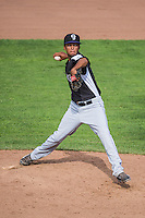 Kelvin Franco (18) of the Grand Junction Rockies delivers a pitch to the plate against the Ogden Raptors in Pioneer League action at Lindquist Field on July 5, 2015 in Ogden, Utah. Ogden defeated Grand Junction 12-2.  (Stephen Smith/Four Seam Images)