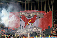 Toronto, ON, Canada - Saturday Dec. 10, 2016: Toronto FC tifo prior to the MLS Cup finals at BMO Field. The Seattle Sounders FC defeated Toronto FC on penalty kicks after playing a scoreless game.