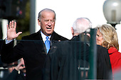 Washington, DC - January 20, 2009 -- United States Vice President Joe Biden takes the oath of office at the 56th Presidential Inauguration at the United States Capitol in Washington, D.C. on Tuesday, January 20, 2009..Credit: Chad J. McNeeley - DoD via CNP